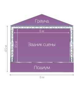 Готовая сцена STAGE COMPLEX 4Х6