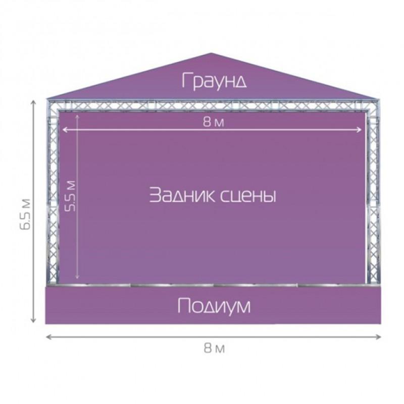 Готовая сцена STAGE COMPLEX 6X8