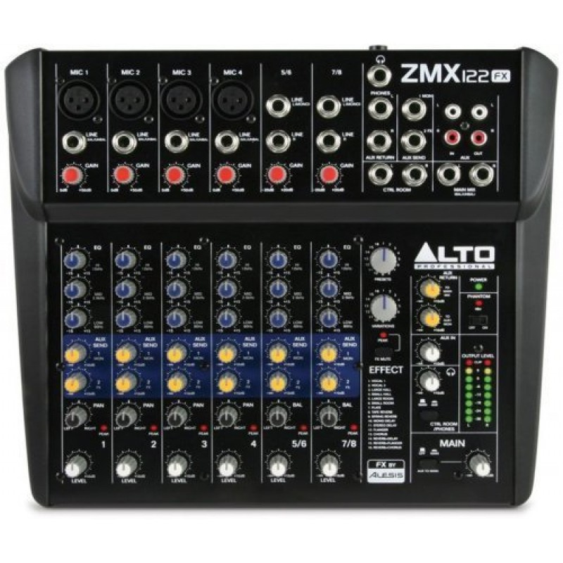 Аренда микшера Alto Professional ZMX122FX
